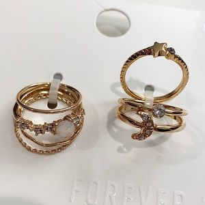 Assorted ring set in gold color
